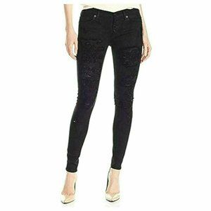 Hudson Jeans Destroyed Ciara Button Fly Jeans